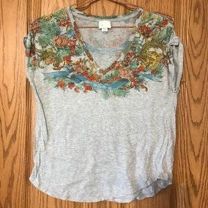 Anthropology Postmark xs floral blouse